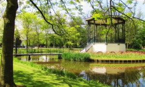 parque Volderpark en un día en Ámsterdam
