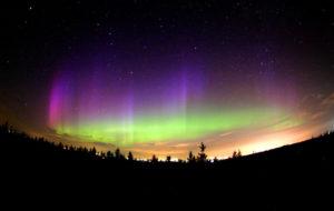 dónde ver la aurora boreal canada