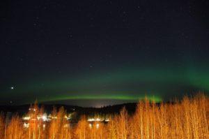 dónde ver la aurora boreal finlandia